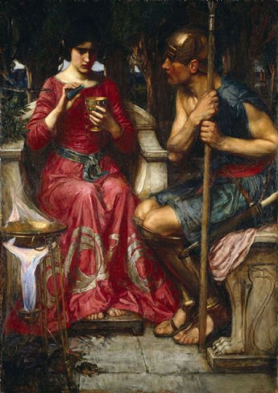 Waterhouse, John William: Jason and Medea. Mythical Fine Art Print/Poster. Sizes: A4/A3/A2/A1 (00839)